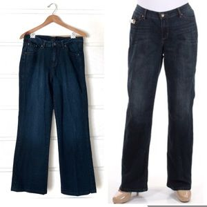 JAG High Waist Dark Wash Boot Cut Jeans